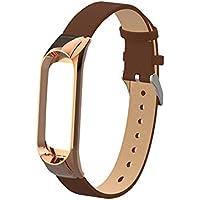 Hunpta@ Uhrenarmband für Xiaomi Mi Band 3 Ersatz Armband Armband Leder Band Strap + Rahmen Fall