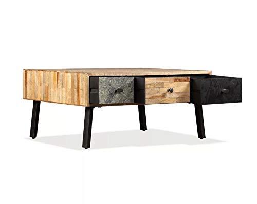 Preisvergleich Produktbild Generic Ee-Tabl Rustikaler Holz-Aufbewahrungstisch,  Metall,  Vintage-Stil,  Kaffee-ik-Holz,  Möbel,  rustikales Vintage-Design