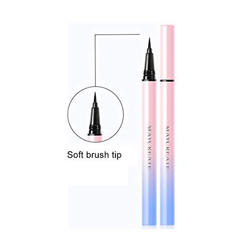 Liquid Waterproof Eye Makeup Remover (Ardorlove Eyeliner Liquid Eyeliner Pen, Stay All Day Waterproof Liquid Eye Liner Pencil, Precise Black)