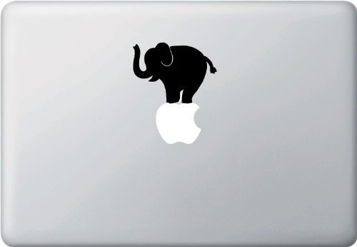 CCI Elefant Balanceakt Aufkleber Zwei Pack Vinyl Sticker|MacBook Laptop Computer Autos Trucks Vans Walls| Schwarz |3.5 X 3 in|cci862 (Elefanten-computer Fall)