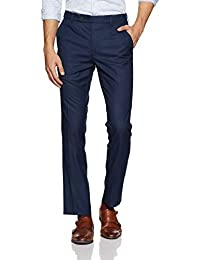 Indigo Nation Men's Relaxed Fit Formal Trousers