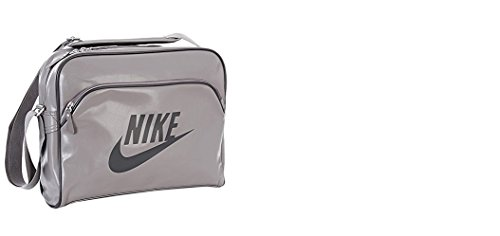 Nike Heritage Si Ba4271 Uni Umhängetasche Soft Gry/Soft Gry/(Nt Stadium) 40 cm (Messenger Gry Laptop)
