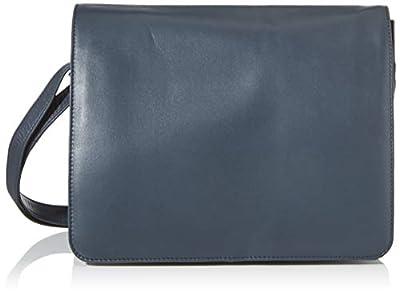 Visconti ATLANTIC 754 - Bolso bandolera organizador de cuero, apto para iPad, Kindle y portátil de Visconti