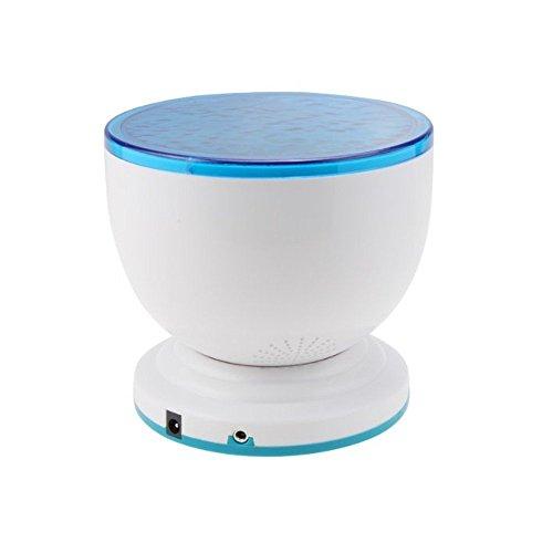 IMAGE Meer Musik Projektor Lautsprecher, Ozean Meer Daren Wave LED Projektor Nacht Lampe Licht MP3 iPhone Lautsprecher Blau