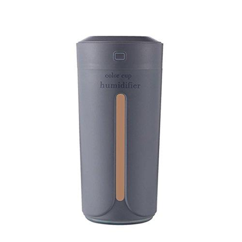 Honeywell Ganze Haus Luftbefeuchter (wuayi USB Auto Luftbefeuchter Luftfilter Lufterfrischer Diffusor Luftreiniger Zerstäuber 7 Farbe Romantische Stimmung Nachtlicht Für Zuhause / Büro / Auto (Grau))