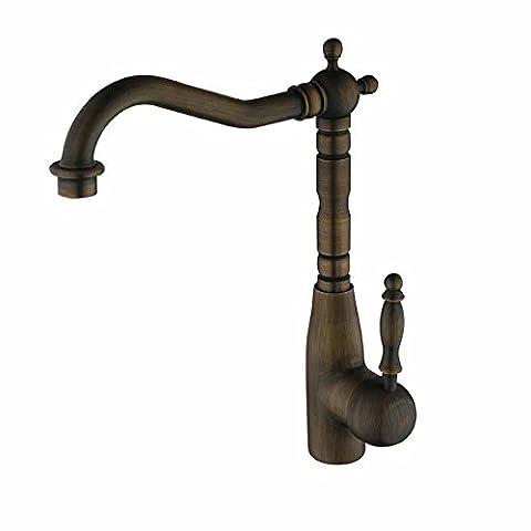 ssby-premium Antik Kupfer warmen und kalten Wasserhähne Küche Spüle Wasserhahn