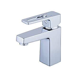 beelee bl6783contemporáneo sólido latón único agujero baño sola manija cromo grifo de baño, agua fría y caliente lavabo grifos