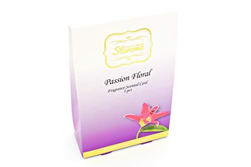Staroma 3X Duftkarte Parfüm Kleiderschrank Dufterfrischer Garderobe natürlich Sachet Aufhänger (Passionsfrucht) (Kleiderschrank Schränke)