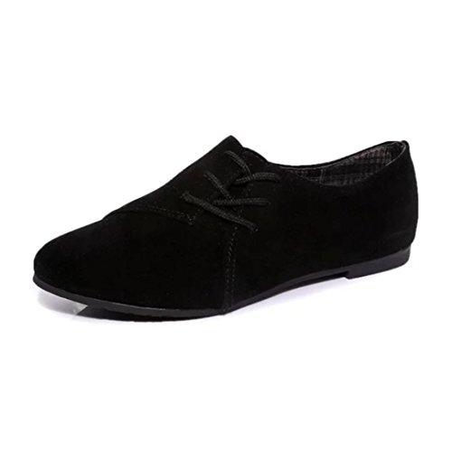 Fulltime® Femmes lacets chaussures plates tête basse pour aider à fond plat chaussures occasionnelles