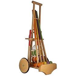 Jeu de croquet en bois junior, artisanat Français, fiable et robuste