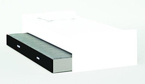 Schrankbett inkl Bettkasten grau / weiß / schwarz B 308 cm Jugendbett Wandbett Schrank Gästebett Jugendzimmer Kinderzimmer Gäste - 3