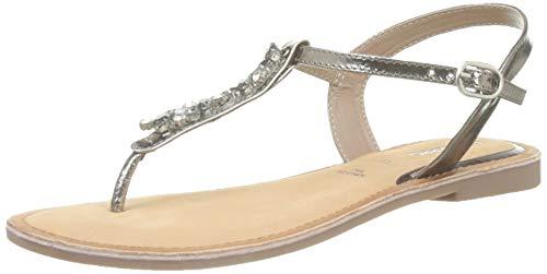 Gioseppo 49056, sandali con chiusura a t donna, argento (plomo 000), 38 eu