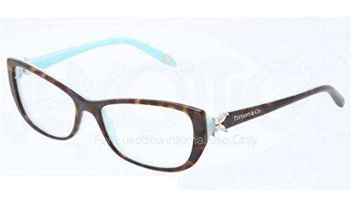 Tiffany & Co. Für Frau 2044b Tortoise / Blue Kunststoffgestell Brillen, 55mm
