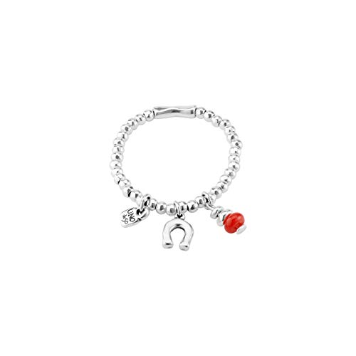 Imagen de uno de 50 pulsera pul1823rojmtl0m mujer plateada herradura de la suerte