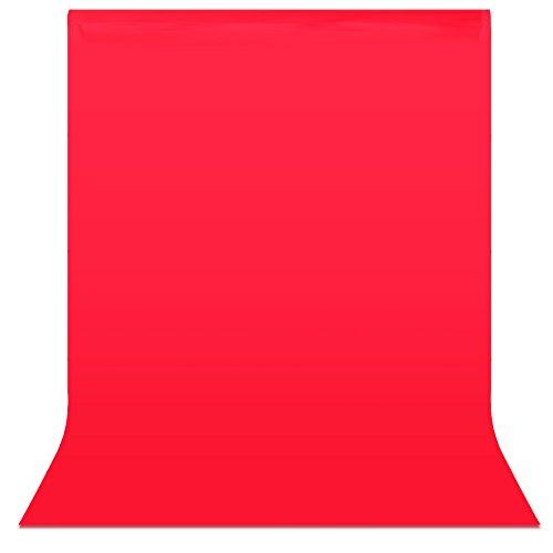 Neewer® 6 x 9 ft / 1,8 x 2,8 M Foto Studio 100% Reiner Musselin klappbare Kulissen Hintergrund Backdrop für Fotografie, Video und Fernsehen (nur Hintergrund)-rot (Ausarbeitung Studio-designs)