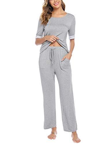 iClosam Women's Pyjama Sets Roun...