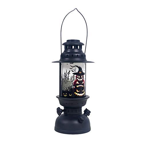 QHJ Halloween Accessoires, Halloween Dekorationen, Tragbare Halloween Winde Halloween Kerze mit LED Teelicht Kerzen für Halloween Deko Party (B) (Stellen Sie Gothic Mädchen Kostüm)