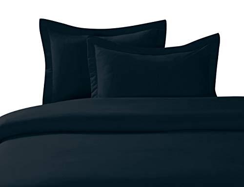 Superior Home 3-teiliges Bettwäsche-Set für Queen-Size-Betten mit 2 Kissenbezügen, kräftige Farben und weicher, bequemer Bettbezug, Schwarz (Queen Bett Set Mit Bettbezug)