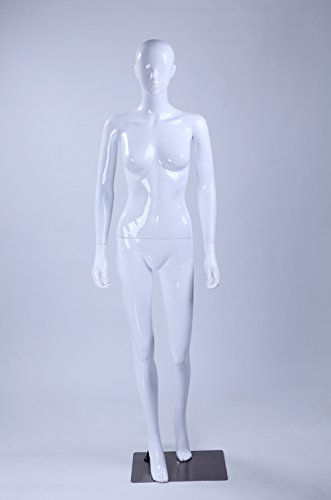 Eurotondisplay LF1-B Modern Nase und Mund geformt schöne abstrakte Weiß Glanz lackierte Schaufensterpuppe Neu Weiblich Feminin Schick (Frau, LF1-B)