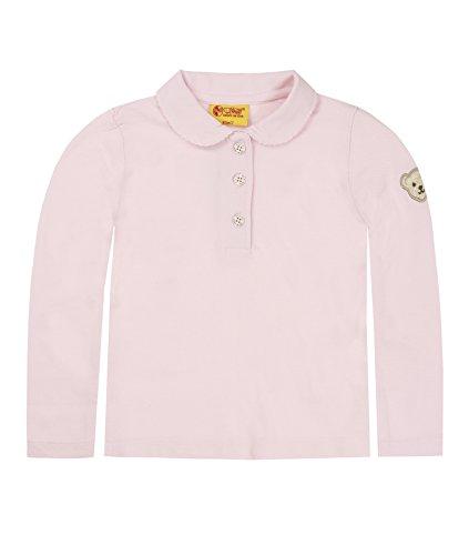 Steiff Baby - Mädchen Poloshirt 0006836 Polo Shirt 1/1 Sleeves,, Gr. 92,Rosa (Barely Pink)