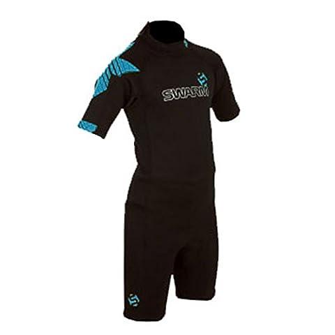 Typhoon Swarm Junior Boys Shorty Wetsuit 2014 - Black/Blue XS