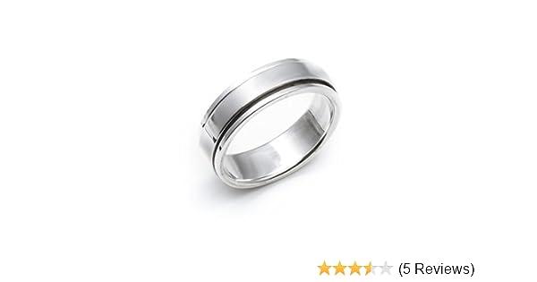 Silverly Frauen M/änner Unisex .925 Sterling Silber 7mm Flach band daumen ring