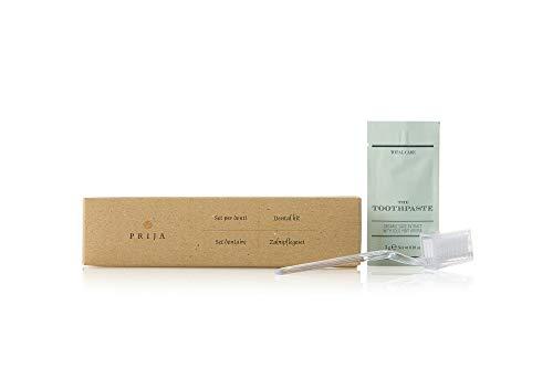 Hotel Wilkommenspacket PRIJA 15 individuell verpackt Dental Kit mit 3gr organischer Zahnpasta (Made in Italien) -