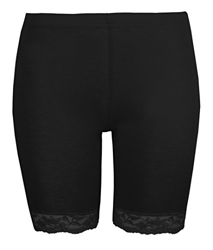 womens-cycling-shorts-ladies-lace-trim-cycle-shorts-by-love-lolar-stretch-black-leggings-l-xl-14-16