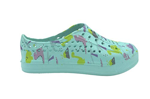 dELiAs Toddler Girls Flip Flops Kids Water Shoes Slip-On Quick Dry Printed Swim Sneakers