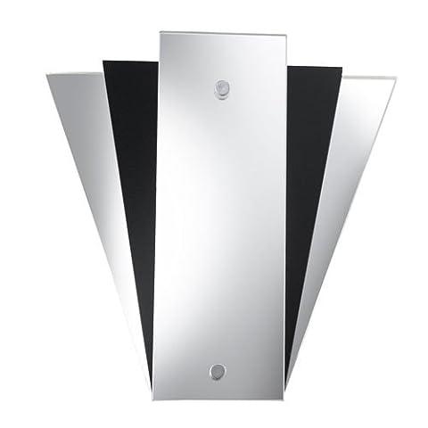 SearchLight 6201BK Deco Fan Style Mirror/Wall Bracket, Black