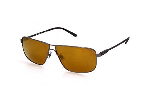 lunettes de soleil polarisantes polarisées aviateur verres polarisés homme femme 201155 (monture gun metal verres vert, largeur:130mm hauteur:50mm)