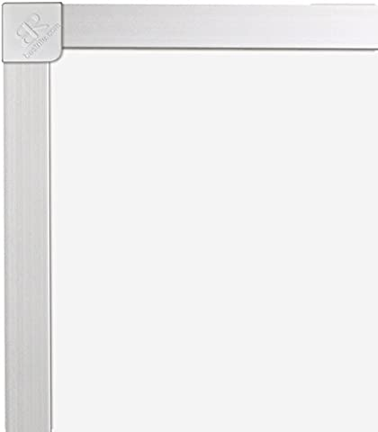 Best-Rite ABC Classroom Dry Erase Porcelain Steel Magnetic Markerboard Without Marker Tray, 2 x 3 Feet Whiteboard