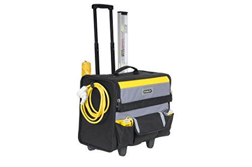 Stanley Werkzeugkoffer / Werkzeugtasche mit Rollen, (44.5x25.5x42cm, wasserfester Kunststoffboden, Trolley aus strapazierfähigem und robustem 600x600 Denier Nylon, viele Verstaumöglichkeiten) 1-97-515 - 3
