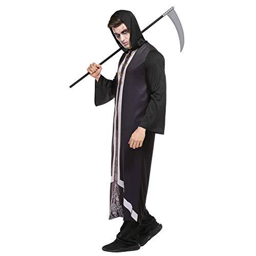 Halloween Kostüm - Evil Master Robe mit Kapuze für Männer, Frauen, Unisex Cosplay Kleidung.