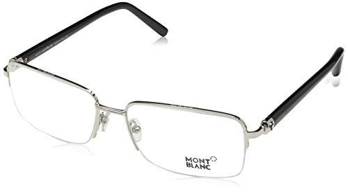 Montblanc Herren Mont Blanc Mb0487 016-58-17-145 Brillengestelle, Silber, 58