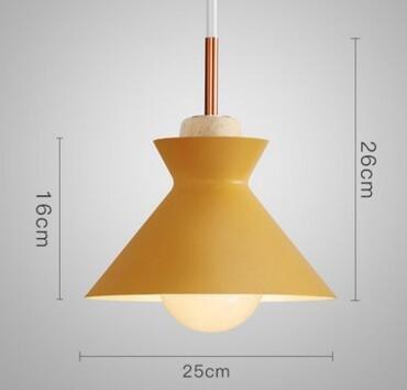 FuRongHuang Pendentif de bois moderne coloré Fashion Lights Lamparas minimaliste de l