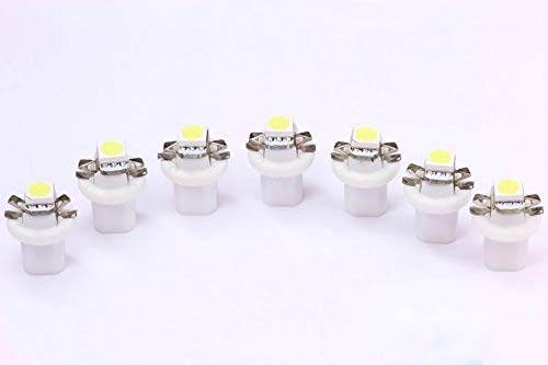 7x weiße high Power B8.5D LED Tachobeleuchtung Umbauset