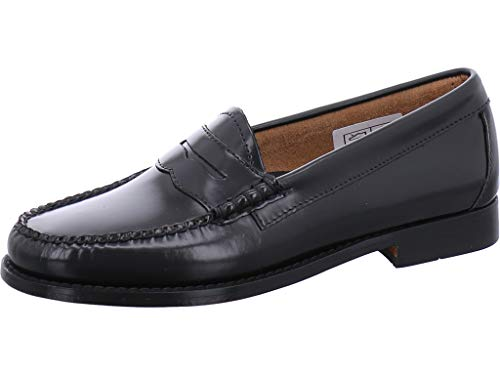 G.H. Bass & Co. Damen Penny Slipper, Schwarz (Black Leather 000), 38 EU - Bass Loafer