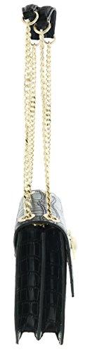 Versace Jeans Linea o, Borsa a Tracolla Donna, 8x17.5x24 cm Nero