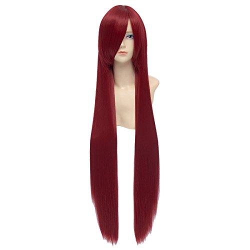 La Mode Nouvelle Magi De Puella Madoka Magica Vin Longue Frange De Rampe Rouge Chapeau De Perruque Cosplay