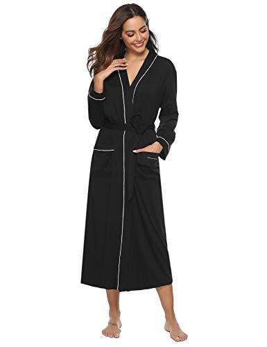 Aibrou Unisex Albornoz Hombre o Mujer Primavera Verano Batas y Kimonos con Cinturón,Muy Suave Cómodo...