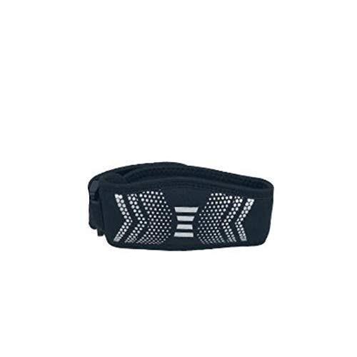 ACHICOO Sport Knie Strap Patella Knie Sehne Unterstützung Klammer Knieschützer Dämpfung Arthritis Schmerzlinderung Kniescheiben für Laufen Black Silver Outdoor-Produkte