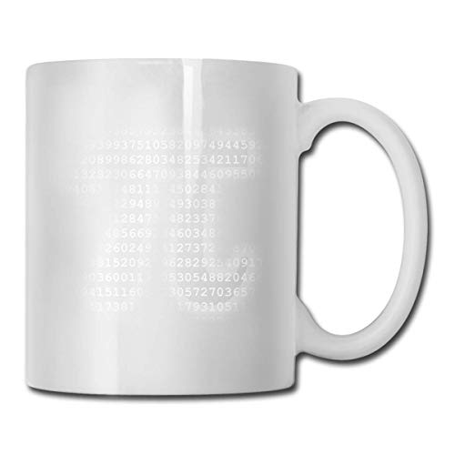 Daawqee Becher Porcelain Coffee Mug Pi Numbers Shape Ceramic Cup Tea Brewing Cups for Home Office