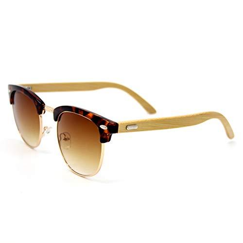 Kjwsbb Bambus Sonnenbrille Männer Holz Sonnenbrille Frauen Original Holz Brille