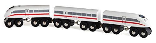 BRIO 33748 - Schnellzug mit Sound, 3-teilig, Transport Verkehr