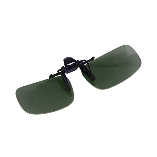 Driving Night Vision Aufsteckbare Klapplinsen-Sonnenbrille Coole Brillen-Aufstecklinse Anti-UV 400 Unisex für Frauen und Männer