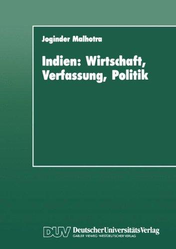 Indien: Wirtschaft, Verfassung, Politik : Entwicklungstendenzen bis zur Gegenwart (Duv Sozialwissenschaft) por Joginder Malhotra