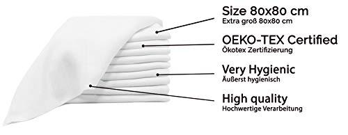 Imagen para Zollner 10 muselinas para bebé, algodón 100%, 80x80 cm, blancas