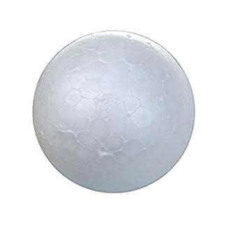 Bola de espuma – TOOGOO(R) 20 x bolas de espuma de poliestireno de artesanias de decoraciones para arboles de Navidad de color blanco de 7cm