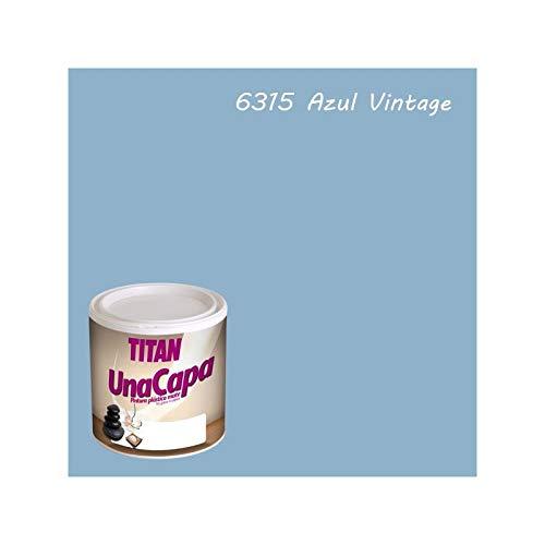 Industrien Titan. S.L 69631534Wandfarbe matt 750ml Blau Vint int. mono eine Schicht Titan